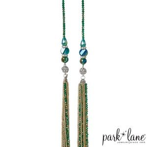 Park Lane Green + Gold Role Model Necklace
